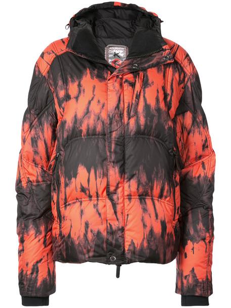 Kru jacket puffer jacket oversized women red