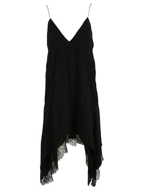 IRO Lace Trim Dress in black