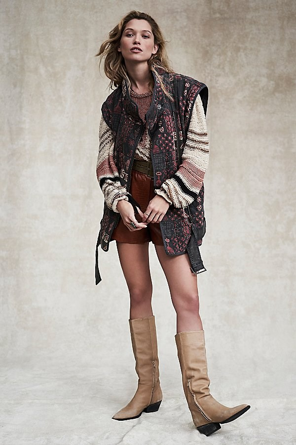 Jenny Quilted Moto Jacket by Free People