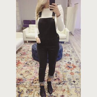 pants amazing lace overalls black