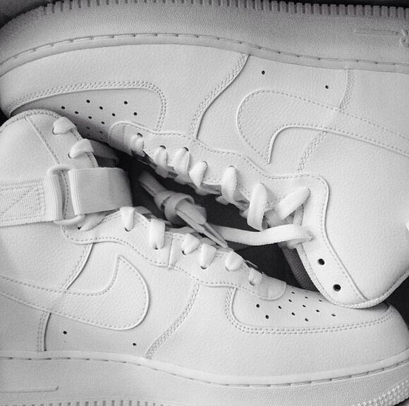 lovely pepa white shoes nike sneakers air force ones hightops cocaine help me to find