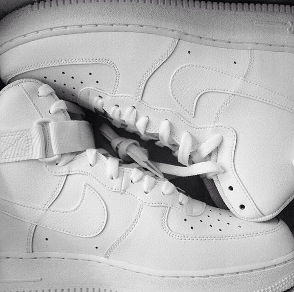 shoes nike sneakers nike air force 1 high top sneakers white cocaine lovely pepa