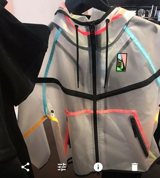 jacket multi color transparent clear nike