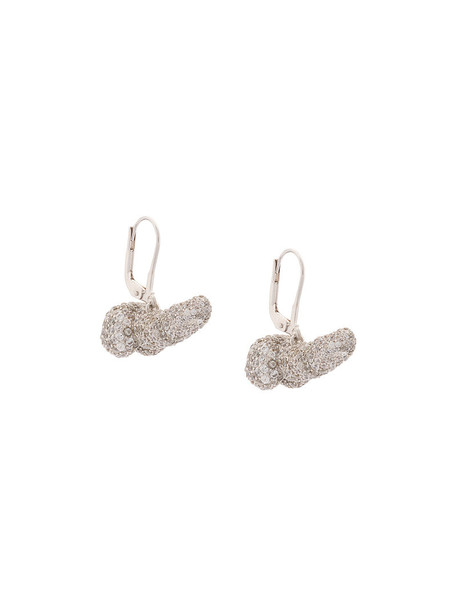 Vivienne Westwood women earrings grey metallic jewels