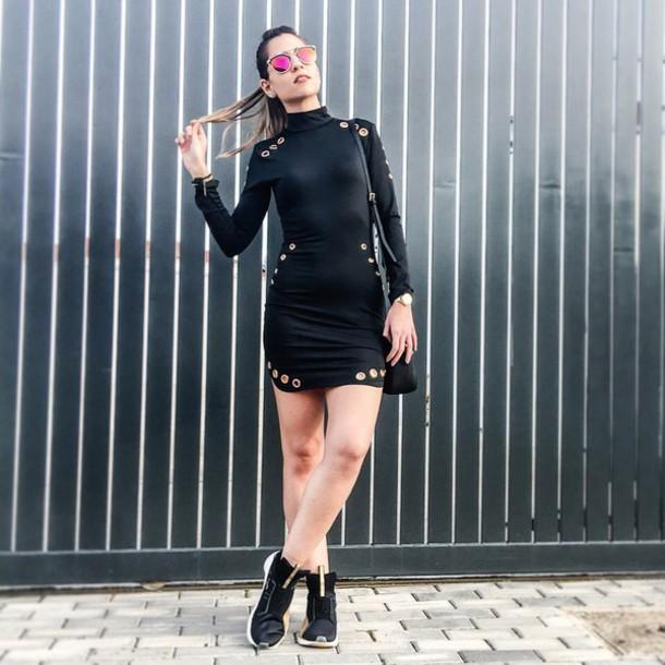 24199db9379 dress light in the box black dress sexy dress bodycon dress mini dress black  gold sporty