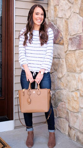 mrscasual,blogger,sweater,jeans,shoes,jewels,bag,handbag,white sweater