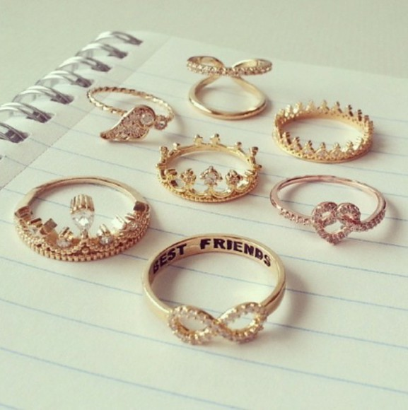 jewels rings infinity ring gold diamonds crown