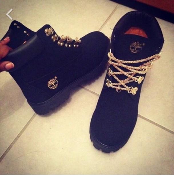 shoes timberlands black gold wheretoget