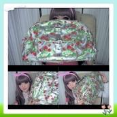 bag,strawberry,kawaii,bunny,bunny headband,sweet rings,kawaii girl,big bag,silver,pink,red,polka dots,headband,green,venusangelic,hat,jewels