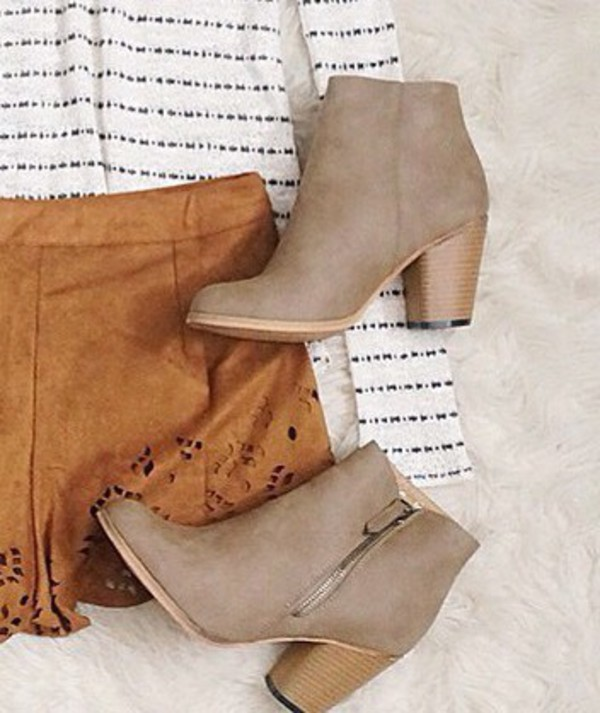 shoes boots booties shoes tan boot ankle boots