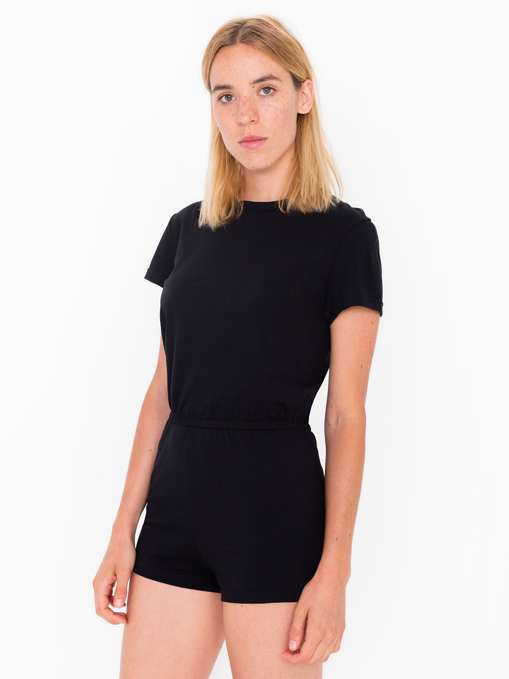Black dress romper - Jersey T Shirt Romper American Apparel