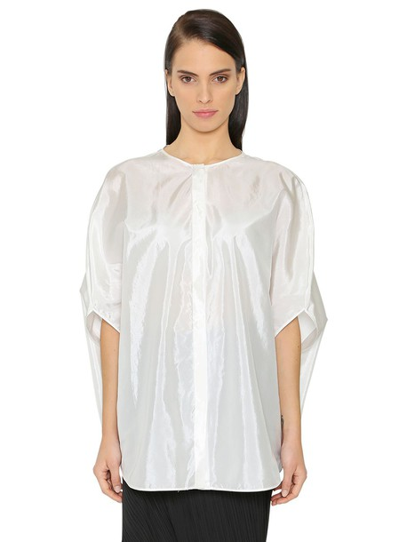 Jil Sander shirt oversized silk satin white top