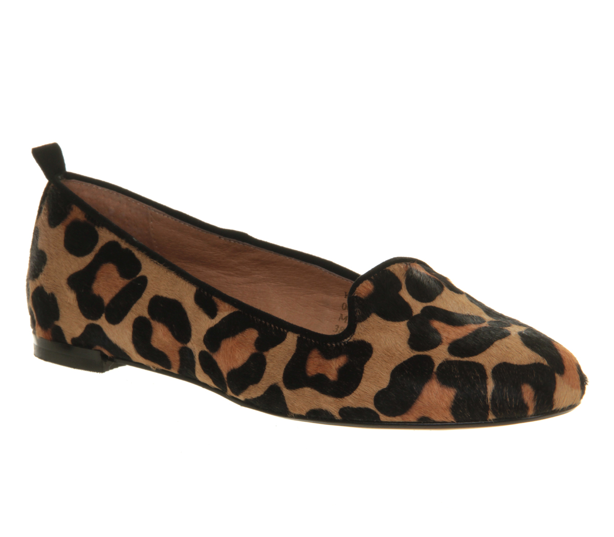 Office kwik step slipper leopard pony effect