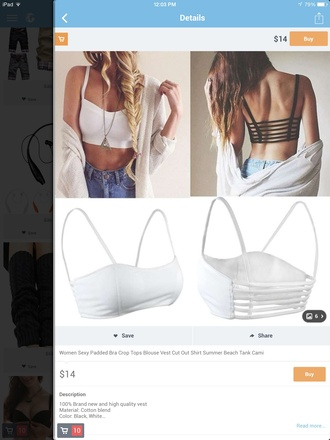 blouse tank top bandeau