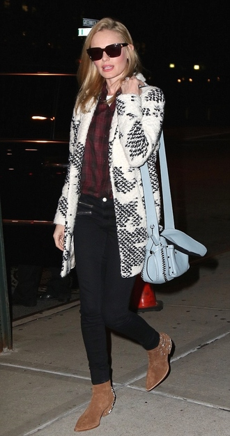 bag coat fall outfits kate bosworth streetstyle