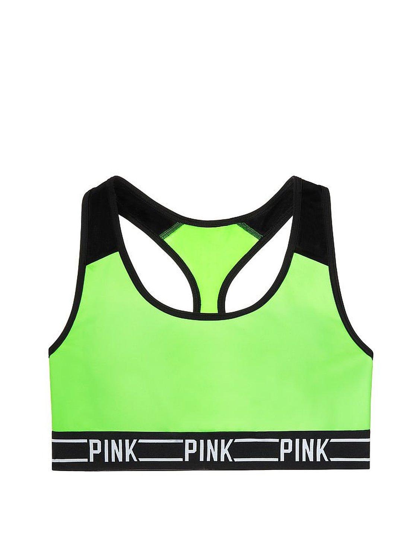 c8fa736c82 Victoria s Secret PINK Logo Racerback Bra Top Small Neon Kiwi at ...