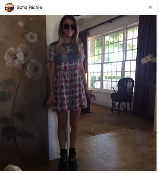 dress multi colour sofia richie richie vine shift dress t-shirt dress celebrity dresses