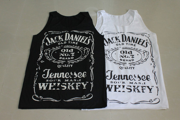 women jack daniel's tank top top samll medium