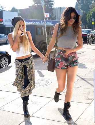 shorts kylie jenner watermelon print jeans hat jacket tank top