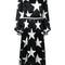 Msgm - star print bell sleeve dress - women - silk - 44, black, silk