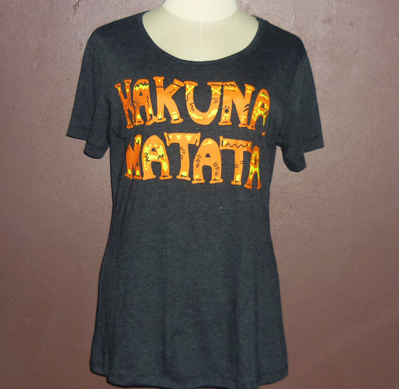 Work Out Clothes - Hakuna matata Funny Workout Shirt for Women\ Black tee\ short shirt \ women tee\ women fashion\Street style Size S M L XL