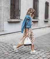 jacket,denim,denim jacketd,ress,dress,midi dress,shoes,sneakers,bag