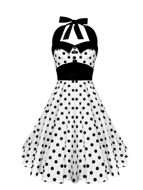 Lady mayra ashley polka dot dress vintage rockabilly pin up 1950s retro style gothic lolita swing party halloween prom plus size clothing
