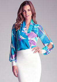 bebe | High Low Shirt Blouse - Tops - Blouses & Shirts