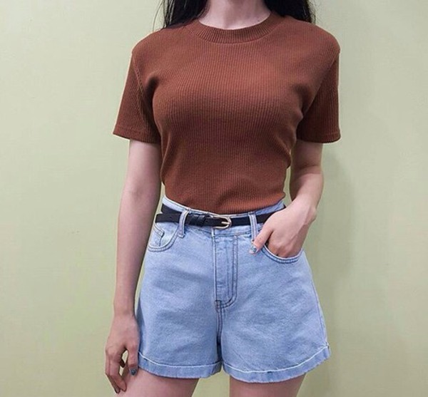 shorts denim summer spring vintage 90s style High waisted shorts denim shorts summer outfits spring outfits 90s style