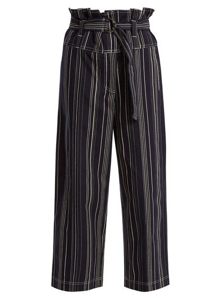 Lee Mathews high cotton navy pants