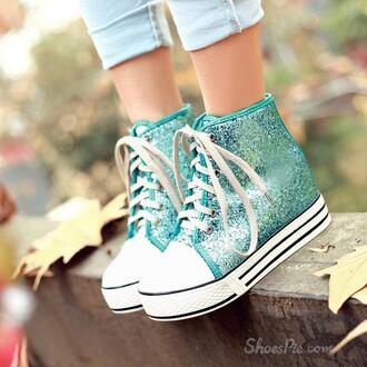 shoes teal shoes converse teal sneakers teal sneaker teal sneakers glitter glitter shoes glitter sneaker glitter sneakers