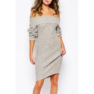 dress girly girl girly wishlist off the shoulder sweater dress
