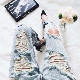 jeans torn jeans