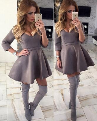 dress v neck dress v neck boho dress mini dress a line dress party dress girly clothes tumblr clothes tumblr girl