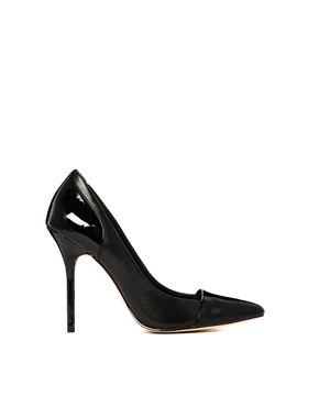 River Island | River Island Willow Toe Cap Black Pointed Court Shoe at ASOS