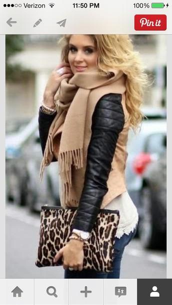 bag leopard oversized clutch