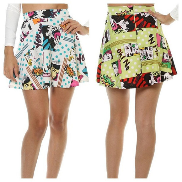 bang cartoon boom comic skirt graphic print comic strip vanity vanity row dress to kill