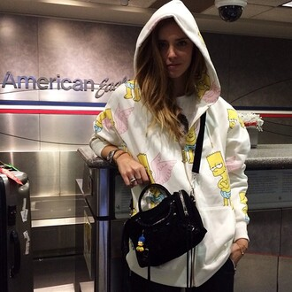 jacket chiara ferragni bart simpson the simpsons coat sweater chiara ferragni theblondesalad