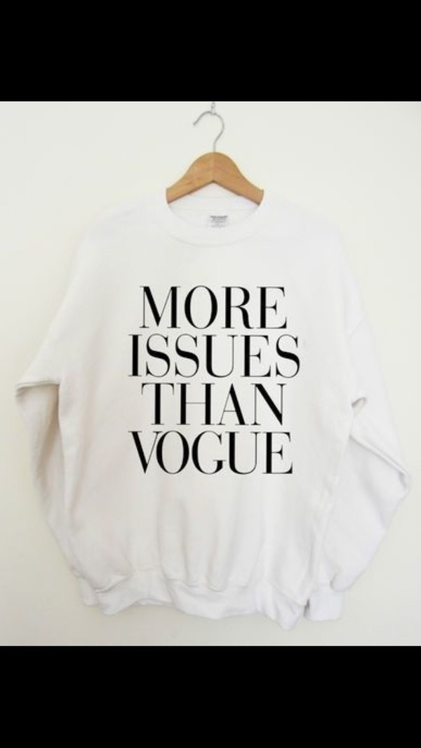 sweater white white sweater vogue cute black writing writing designer sassy sweater