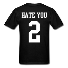 Hate You 2 Men's T-Shirt | Bro_Oklyn Inc Co.
