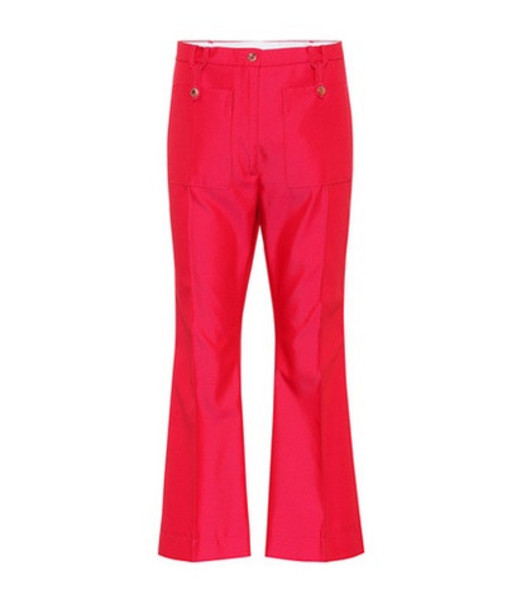 Golden Goose Deluxe Brand Selene cotton-blend twill trousers in pink