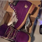 shoes,dark,purple shoes,burgundy shoes,timberlands boots,timberlands,gold,oxblood,timberland,timberland boots shoes,timberlands and gold chain,timberland boots studded,timberland boots,winter outfits,winter boots,boots,purple timberlands