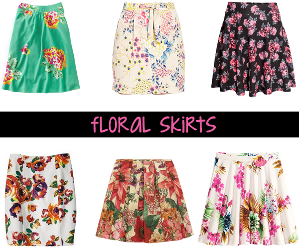 Floral skirts for spring