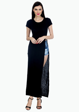 dress maxi dress slit dress slit two slit dress red lime sunday
