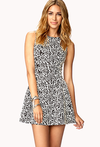 Matelassé Drop Waist Dress | FOREVER21 - 2061880572