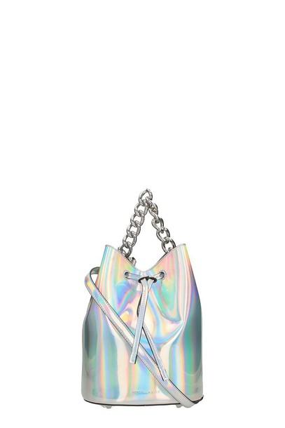 KENDALL + KYLIE mini bag bucket bag silver