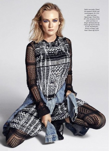 jumpsuit diane kruger lace tweed