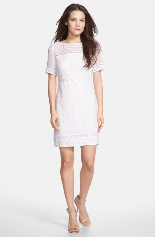 Donna Morgan Crochet Lace Bateau Neck Dress | Nordstrom | Keep.com