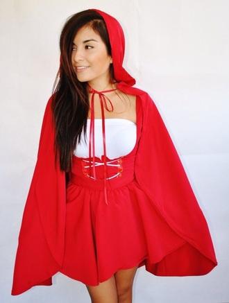 dress little red riding hood red halloween costume