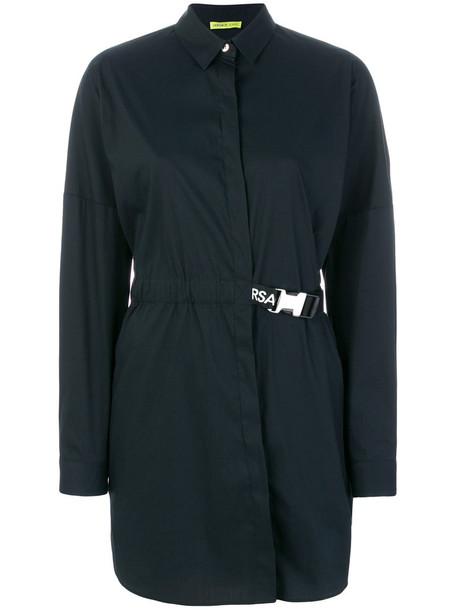 Versace Jeans shirt women spandex cotton blue top
